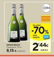 Oferta de Cava brut Bach por 8,15€