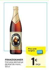 Oferta de Cerveza alemana Franziskaner por 1€