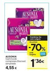 Oferta de Compresas Ausonia por 4,55€