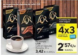 Oferta de Cápsulas de café l'or por 3,42€