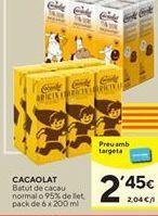 Oferta de Batido de cacao Cacaolat por 2,45€
