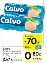 Oferta de Atún claro Calvo por 2,67€