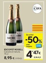 Oferta de Cava brut nature por 8,95€