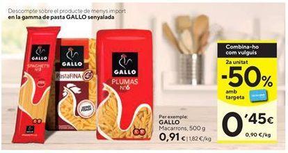 Oferta de Macarrones Gallo por 0,91€