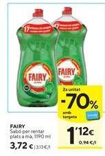 Oferta de Detergente lavavajillas Fairy por 3,72€