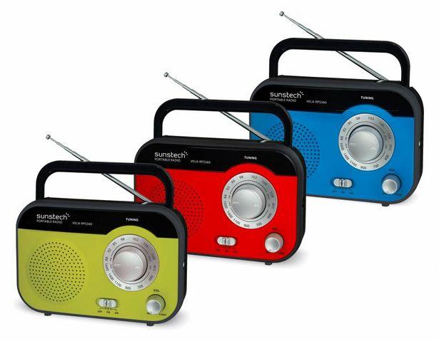 Oferta de RADIO SUNSTECH RPS560 AZUL por 18,95€