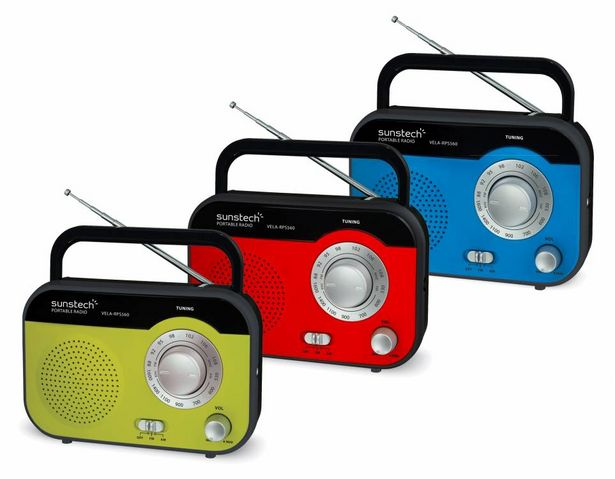 Oferta de RADIO SUNSTECH RPS560 ROJO por 18,95€