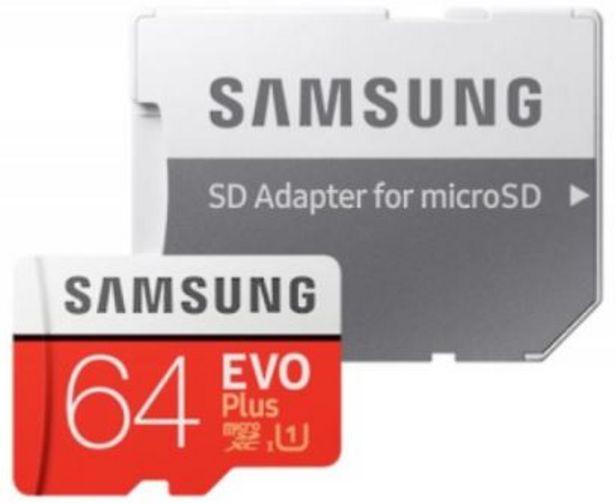 Oferta de TARJETA MICRO SD SAMSUNG  64GB EVO PLUS CLASS 10 +ADAPT por 14,99€