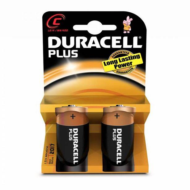 Oferta de PAQUETE 2 PILAS DURACELLC(LR14)PLUS POWER K2(81427233) por 4,95€