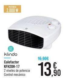 Oferta de Calefactor KFH20H-17 Klindo  por 13,9€