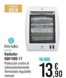 Oferta de Radiador KQH1800-17 Klindo  por 13,9€
