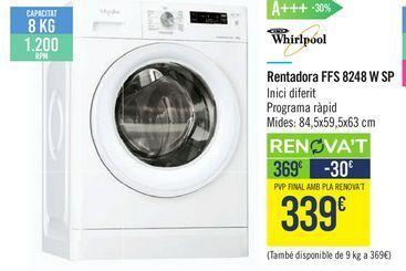 Oferta de Lavadora FFS 8248 W SP Whirlpool  por 339€