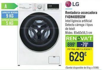 Oferta de Lavadora-secadora F4DN4009S0W LG  por 629€