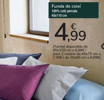 Oferta de Funda de almohada  por 4,99€