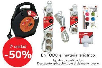 Oferta de En TODOS el material eléctrico, iguales o combinados  por