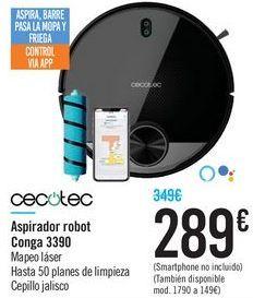 Oferta de Aspirador robot Conga 3390 Cecotec por 289€
