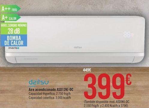 Oferta de Aire acondicionado ASD12KI-DC Daitsu  por 399€