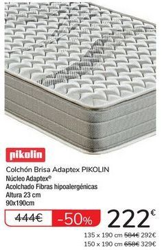 Oferta de Colchón Brisa Adaptex PIKOLIN por 222€