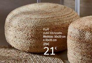 Oferta de Puff yute trenzado por 21€