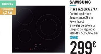Oferta de Placa NZ63R727AL SAMSUNG  por 299€