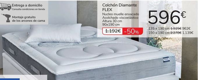 Oferta de Colchón Diamante FLEX por 596€
