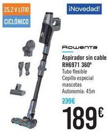 Oferta de Aspirador sin cable RH6971 360 Rowenta  por 189€