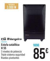 Oferta de Estufa catalitica Orbegozo H55 Orbegozo  por 85€