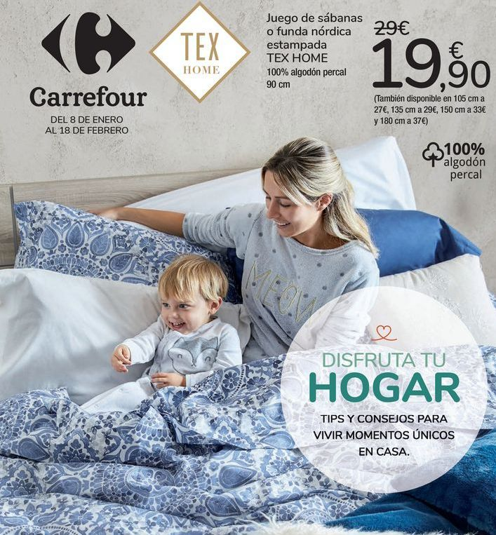 Oferta de Juego de sábanas o funda nórdica estampada TEX HOME por 19,9€