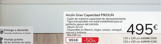 Oferta de Arcón Gran Capacidad PIKOLIN por 495€