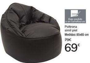 Oferta de Poltrona simil piel por 69€