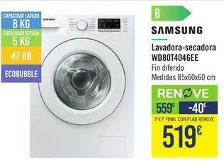 Oferta de Lavadora-secadora WD80T4046EE SAMSUNG por 519€