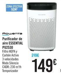 Oferta de Purificador de aire ESSENTIAL PU2530 Rowenta  por 149€