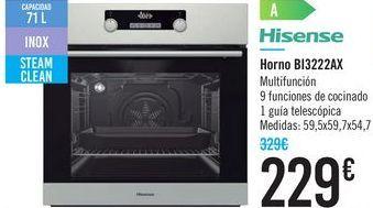 Oferta de Horno BI3222AX Hisense  por 229€