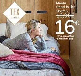 Oferta de Manta franela lisa por 16€