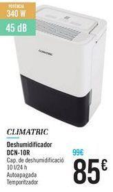Oferta de Deshumidificador DCN-10R Climatric  por 85€