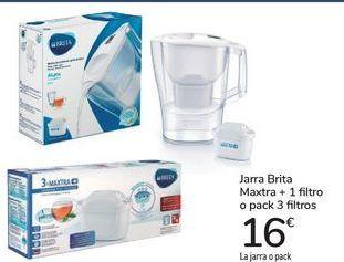 Oferta de Jarra Brita Maxtra + 1 filtro o pack 3 filtros por 16€
