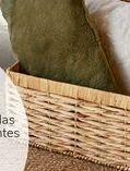 Oferta de Baúl trenzado con tapa y forro  por 34€
