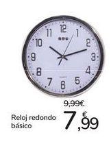Oferta de Reloj redondo básico  por 7,99€