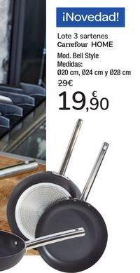 Oferta de Lote 3 saretenes Carrefour Home  por 19,9€