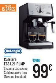 Oferta de Cafetera EC31.21 PUMP DeLonghi por 99€