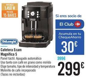 Oferta de Cafetera Ecam Magnifica S DeLonghi  por 299€