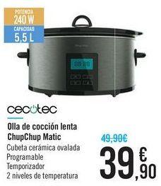 Oferta de Olla de cocción lenta ChupChup Matic Cecotec por 39,9€