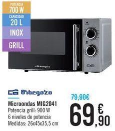 Oferta de Microondas MIG2041 Orbegozo  por 69,9€