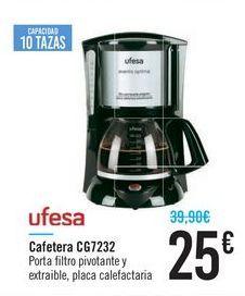 Oferta de Cafetera UFESA CG7232  por 25€
