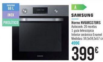 Oferta de Horno NV68R3370RS SAMSUNG  por 399€