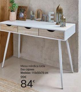 Oferta de Mesa nórdica Ucla dos cajones  por 84€