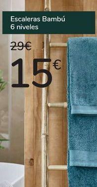 Oferta de Escaleras Bambú por 15€
