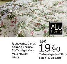 Oferta de Juego de sábanas o funda nórdica 100% algodón ALO HOME por 19,9€