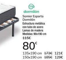 Oferta de Somier Esparta Dormilón  por 80€