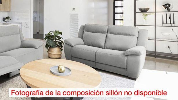 Oferta de Sillón Relax Tela Langreo Gris Perla * por 797€